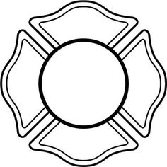 28 Fire Department Maltese Cross Coloring Page Coloring Pages, Cross Coloring Page, Fireman Cake, Fireman Party, Fireman Crafts, Fire Dept, Fire Department, Fire Truck Craft, Shield Template