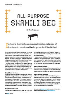 Swahili Bed - Make Magazine