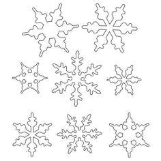 Snowflake Template For Royal Icing Royal Icing Snowflake Pattern Royal Icing Templates, Royal Icing Transfers, Shape Templates, Christmas Colors, Christmas Crafts, Christmas Decorations, Christmas Ornaments, Diy Ornaments, Christmas Snowflakes