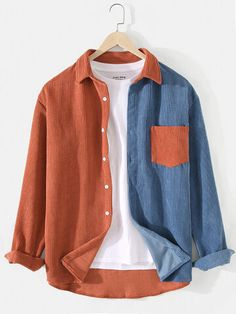 Cool Outfits, Casual Outfits, Fashion Outfits, Mens Clothing Styles, Clothes For Sale, Casual Shirts, Ideias Fashion, Online Shopping, Long Sleeve Shirts