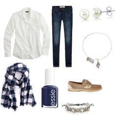 Fall  by lillypulitzera on Polyvore featuring polyvore, fashion, style, J.Crew, Abercrombie & Fitch, Sperry Top-Sider, Stella & Dot, BERRICLE, Alex and Ani and Essie