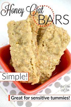 Simple Honey Oat Bars | Just Take A Bite