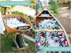como servir bebidas em casamentos, festas, chá de cozinha e panela! Beverage stations for weddings, parties and bridal showers =D