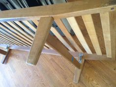 Mid Century Modern Danish Swedish Sofa Daybed Wood Original | eBay