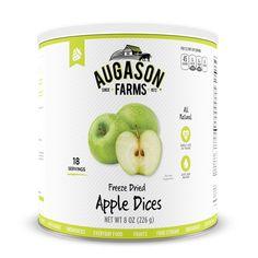 Augason Farms Freeze Dried Apple Dices 8-ounce #10 Can