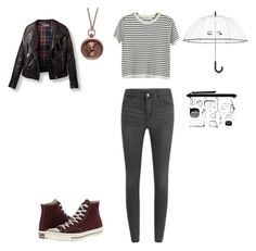 """""""#rainyday"""" by littlewonder2504 ❤ liked on Polyvore featuring moda, Cheap Monday, Chicnova Fashion, Monki, We Are All Smith, Converse y Kate Spade"""