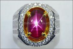 Batu Cincin Permata RUBY, Star Tajam - RBS 297