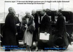 I Sovrani di Belgio vanno nelle Indie orientali da Genova