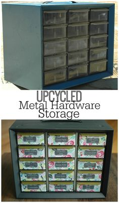 {Trash to Treasure} Turn an outdated metal storage bin into something fun and feminine.