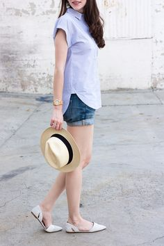 Summer Outfit, Summer Hat, J.Crew Panama Hat, Summer Style, Fashion Blogger Style