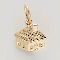 House Charm $20.50 http://www.charmnjewelry.com/gold-charms.htm  #GoldCharm