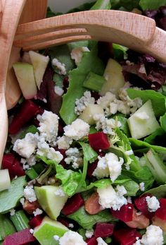 I like the addition of apples to this salad.  Can't wait til the beets are in season.