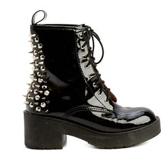 Pre-owned Women's Jeffrey Campbell Black/Silver Boots (105 CAD) ❤ liked on Polyvore featuring shoes, boots, black shoes, jeffrey campbell, pre owned shoes, jeffrey campbell footwear and black silver shoes