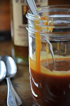 high west whiskey caramel sauce, www.mountainmamacooks.com