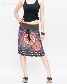 Features full frontal colorful flora mandalas design with gypsy tribal pattern, detailed printed on soft stretch jersey cotton blend. Hippie Outfits, Chic Outfits, Summer Outfits, Yoga Trousers, Harem Pants, African Dashiki Shirt, Boho Chic, Bohemian, Burning Man Outfits