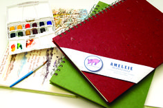 Pink Pig Sketchbook, Watercolor Sketchbook, Watercolour, Sketchbooks, Leaves, Collections, Handmade, Free, Pen And Wash