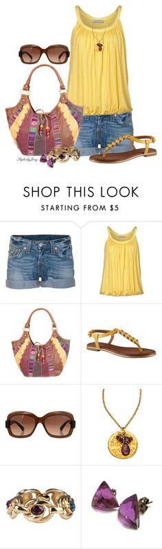 """""""Kicked Back Summer"""" by stylesbyjoey ❤ liked on Polyvore featuring True Religion, René Lezard, ALDO, Giorgio Armani, Blee Inara, Christian Dior, women's clothing, women, female and woman"""