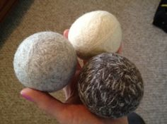 Wool balls used as dryer sheets.