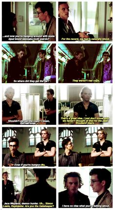 Jace and Simon. Ah, bromance at its finest... Even when the participants don't realize it