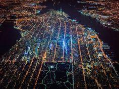 New York Glows in Stunning High-Altitude Night Views - NBC News.com