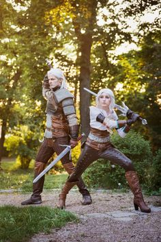 geralt_and_ciri_cosplay_by_juri_cosplay-d8uaif0