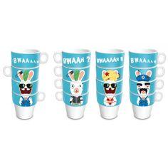 Lot de 4 mugs LAPIN CRETIN sur Izaneo