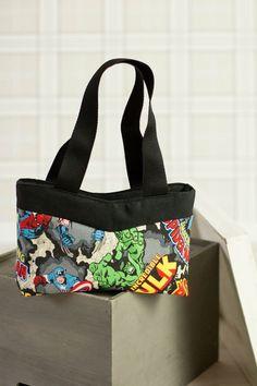 Un sac Annie-Marvel raccourci en hauteur et cousu par La Malle de Maphie ! Patron de couture Sacôtin.