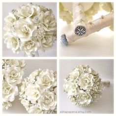 Paper Wedding Bouquet by ElitePaperie on Etsy, $75.00
