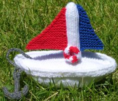 Toy Boat  *Free Knitting Pattern*  **I can think of lots of little Coastie kiddos who'd love this!!**