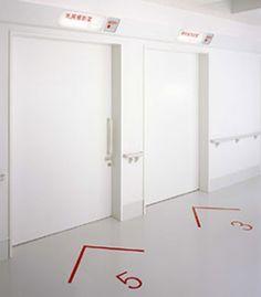wayfinding in the floor Signage Display, Signage Design, Digital Signage, Web Banner, Floor Signage, Japan Interior, Wayfinding Signs, Floor Graphics, Office Branding