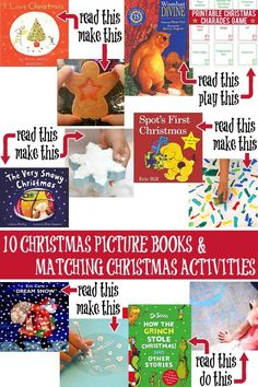 10 fun Christmas books with matching Christmas activities for kids
