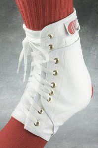 PAIR of Swede-O Ankle Lok Lace-Up Ankle Braces, with side stabilizer inserts, White, Large by Swede-O. Save 33 Off!. $39.95. Comes complete with side stabilizer inserts for additional support. The inserts may be placed in side pockets of the brace for extra support when needed.. Heavy duty triple layer vinyl laminate construction provides durability and comfort.. Seamless arch fits the contour of your foot and doesnt irritate the bottom of your foot.. Exclusive offset panel holds the laces…