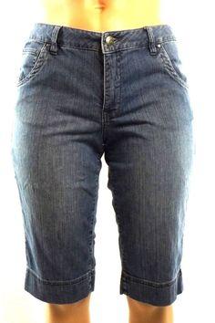Jag Denim Stretch Bermuda Shorts Mid Rise Classic Fit Flap Pockets Sz 14  #Jag #BermudaWalking