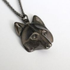Wolf Mask Pendant Necklace - Black Gunmetal from on Etsy. Saved to accessories. Wolf Jewelry, Animal Jewelry, Jewelry Art, Jewellery, Wolf Necklace, Pendant Necklace, Wolf Mask, Wolf Spirit, Looks Cool