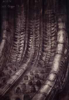 Visionary 'Alien' Designer H. Giger has died today - RIP Mister Hans Ruedi Giger, thank you for your amazing work which has inspired the whole universe of one of my favorite movie, Alien Concept Art Alien, Thelma Y Louise, Hr Giger Art, Giger Alien, Alien Queen, Aliens Movie, Alien Art, Land Art, Horror Art