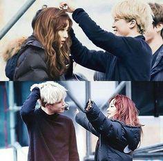 Korean Couple, Best Couple, Kpop Couples, Cute Couples, Jimin Seulgi, Minions, Autumn Instagram, Bts Girl, Red Velvet Seulgi