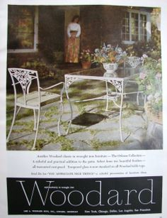 Would love to find this Woodard wrought iron metal patio table & chairs, The Orleans Collection #vintage #ad