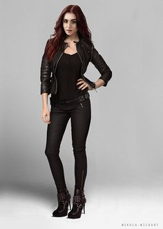 Easy costume from your closet! Clary Fray; The Mortal instruments City of Bones