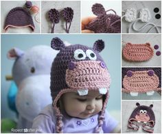 Perfect DIY Ideas: The Perfect DIY Happy Crochet Hippo Hat - The Perf...