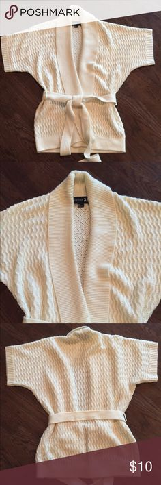 Forever 21 wrap sweater Cute ivory Forever 21 wrap sweater. Great condition. Forever 21 Sweaters