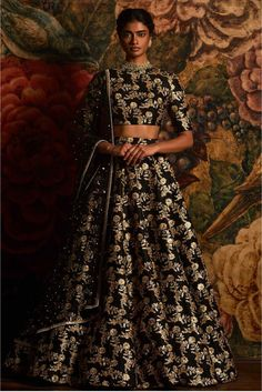 Black Colour Raw Silk Fabric Party Wear Lehenga Choli Comes with matching blouse. This Lehenga Choli Is crafted with Embroidery This Lehenga Choli Comes with Unstitched Blouse Which Can Be Stitched Up...