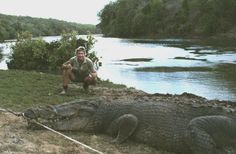 Steve, with Gustave a huge saltwater Crocodile!!!