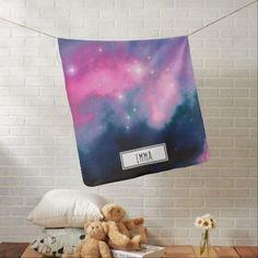 Shop Pink & Blue Galaxy Nebula & Stars Abstract Baby Blanket created by AxisMundi.