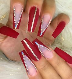 nails, You can collect images you discovered organize them, add your own ideas to your collections and share with other people. Aycrlic Nails, Xmas Nails, Christmas Nails, Valentine Nails, Coffin Nails, Valentine Gifts, Rhinestone Nails, Bling Nails, Glitter Nails