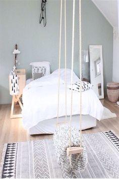 16 Relaxing Scandinavian Bedroom Design Ideas - Best Home Remodel Bedroom Loft, Cozy Bedroom, Bedroom Inspo, Home Decor Bedroom, Modern Bedroom, Girls Bedroom, Bedroom Ideas, Bedroom Designs, Doctor House