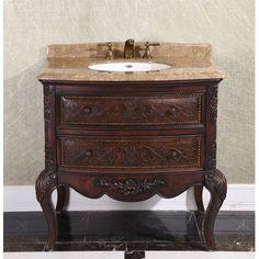 "InFurniture Antique 36"" Single Bathroom Vanity WB-1636L at DiscountBathroomVanities.com"