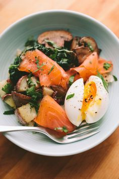 SMOKED SALMON BREAKFAST BOWL WITH A 6-MINUTE EGG — A Thought For Food