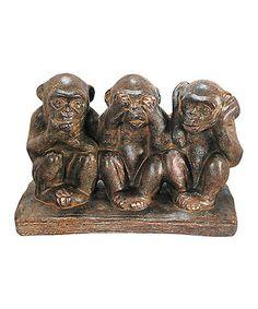Another great find on #zulily! Three Monkeys Figurine #zulilyfinds