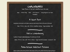 Wordpress Chalkboard Template