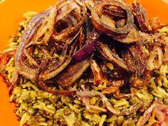 Riz & lentilles à l'oignon frit selon Ottolenghi & Tamimi